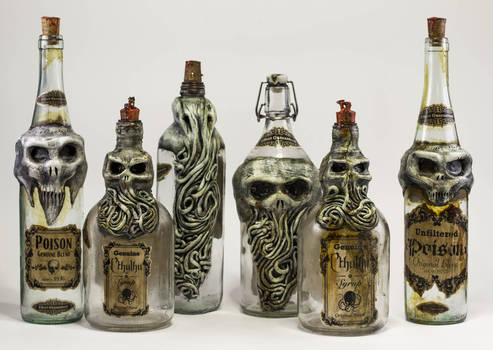 Lovecraftian Creepy Bottles