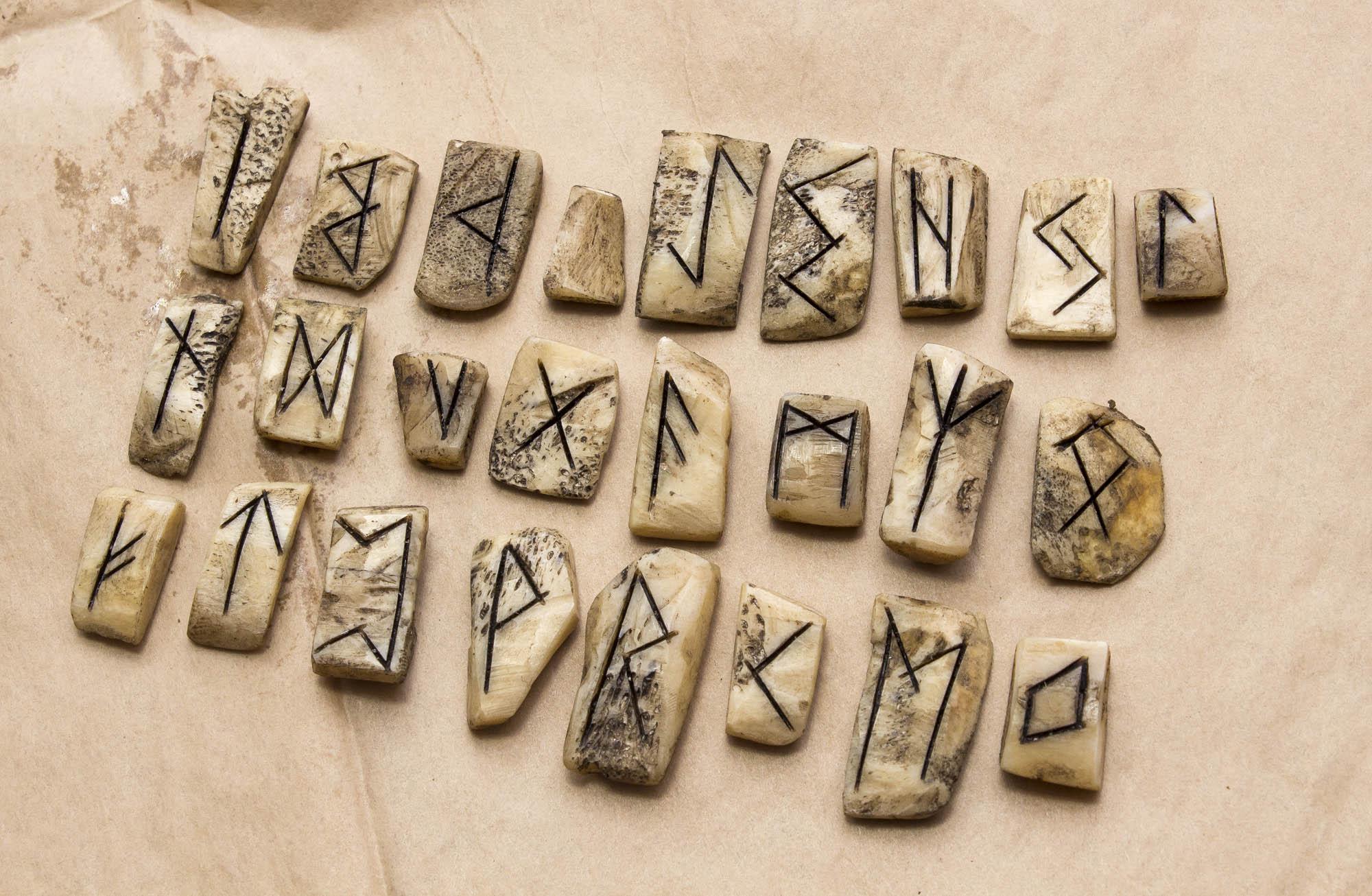 Real Bone Futhark Runes