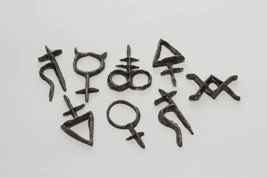 Alchemical Symbols pendent