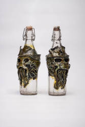 Davy Jones Poison Bottles by FraterOrion