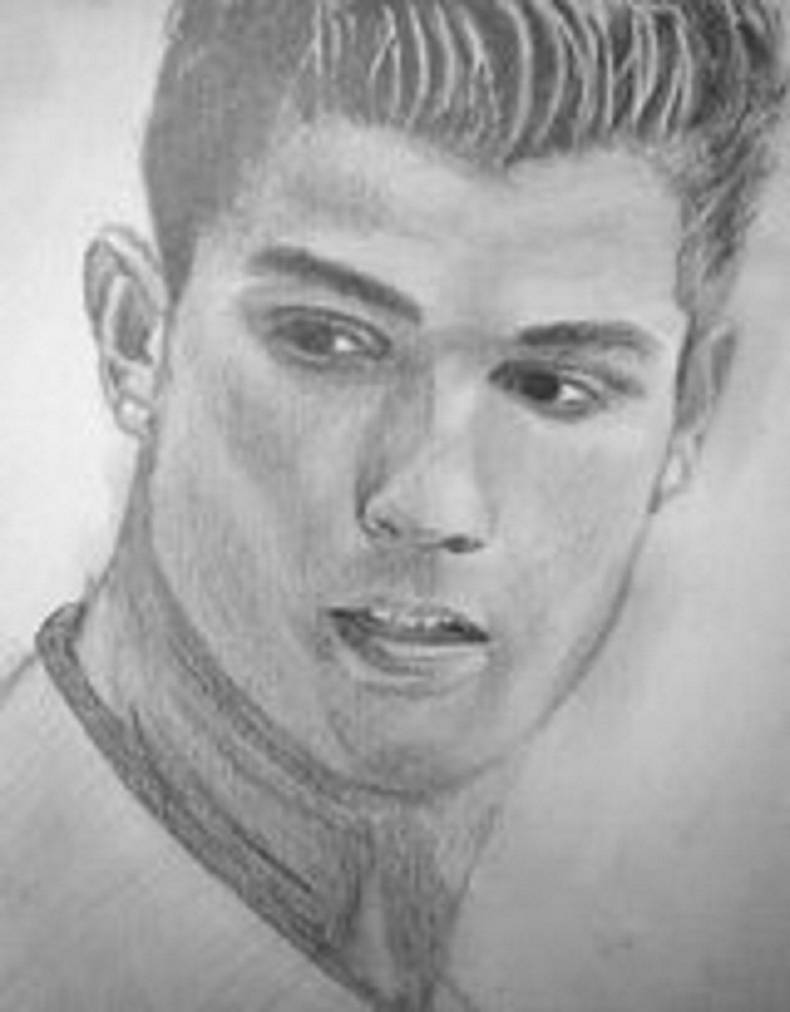 Pencil drawing of christiano ronaldo by bejoy xmencrusader on deviantart