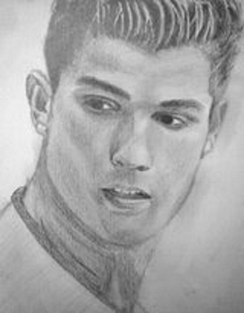Pencil drawing of christiano ronaldo by bejoy xmencrusader