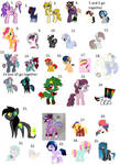 Old pony adopts for ota/free OPEN by ImaGummieBear