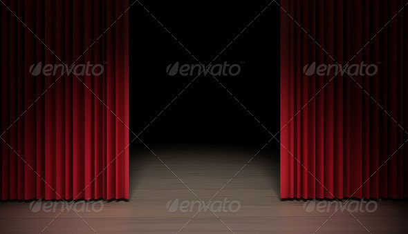 Red Curtain by tdubic