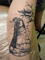 geisha tattoo by daredevil840