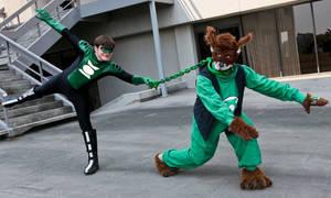 Green Lantern Puppy Training