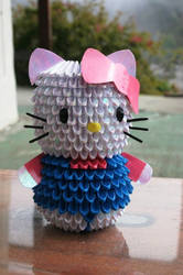 3D Origami Hello Kitty Jaxster
