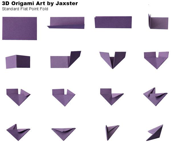 Origami folds: (a) 'mountain fold', 'valley fold', 'swivel fold ... | 500x600