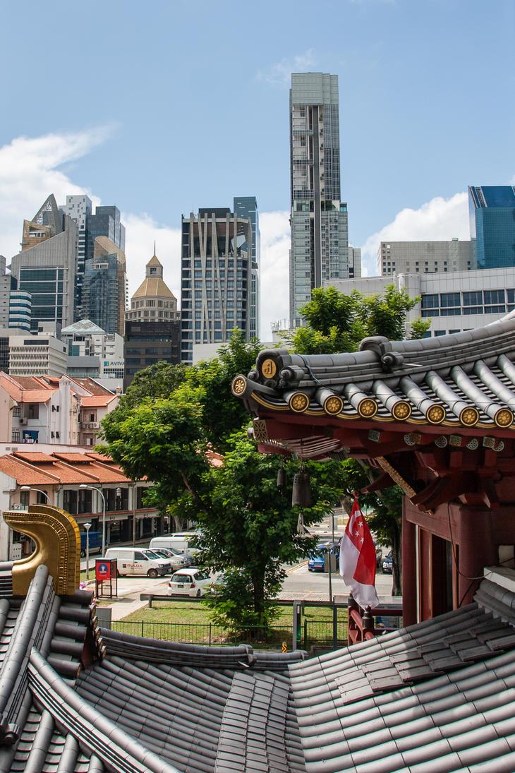 Singapore Skyline by BlueOrph
