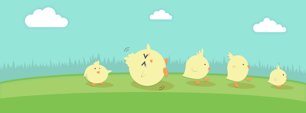 Five Chicks by Eldemorrian