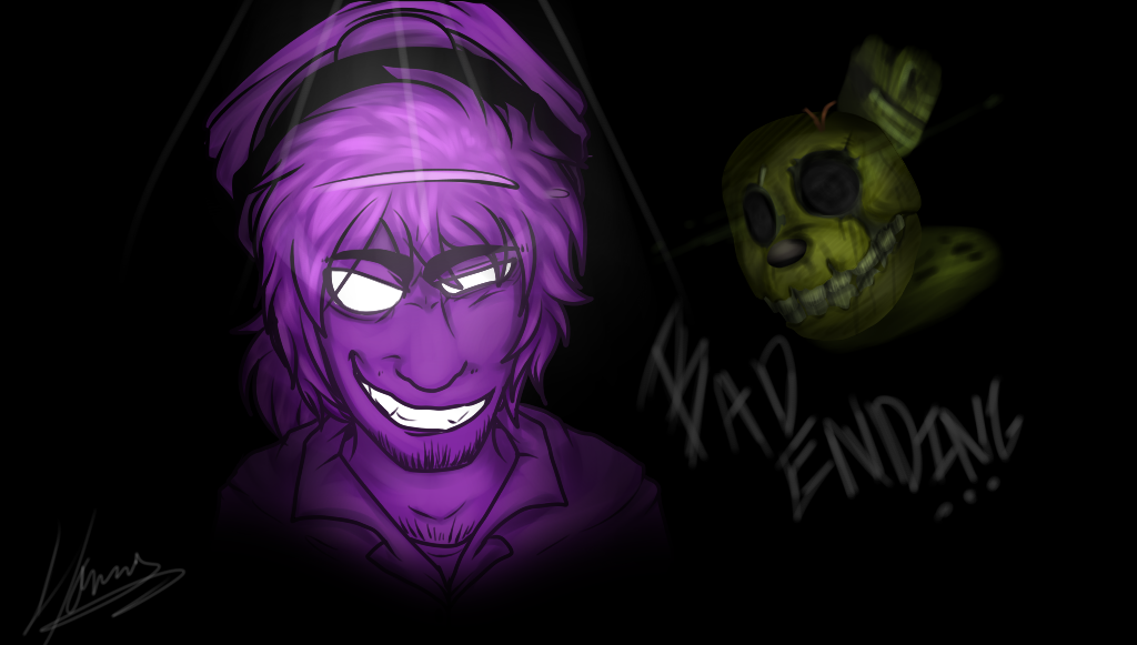 Purple Guy And Spring Trap By Choco-Floof On