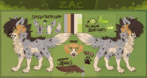 Zac - Reference sheet UPDATED by Choco-Floof