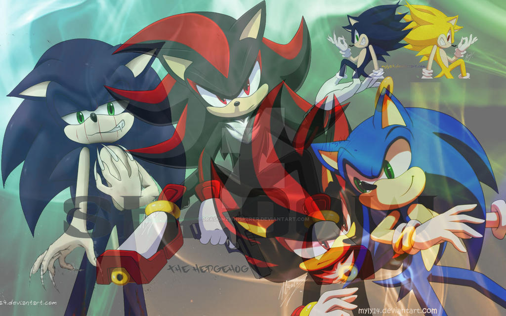 Sonic And Shadow Wallpaper By DragonzWhisperer
