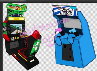 Arcade Cabinet Vectors - 1 by Kia350-90812