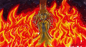 Burning alone by Lord-Evell