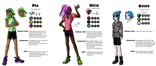 Squid siblings Ref by Lord-Evell