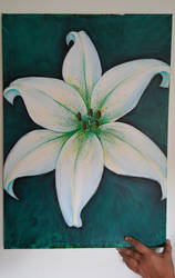 Flower on canvas by Lord-Evell
