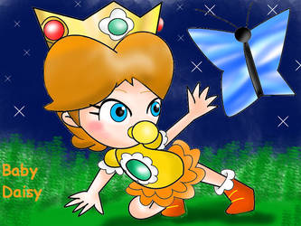 Baby Daisy's butterfly by Bowser2Queen