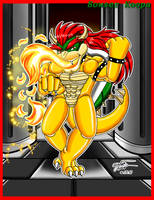 Feel the burn down the castle by Bowser2Queen