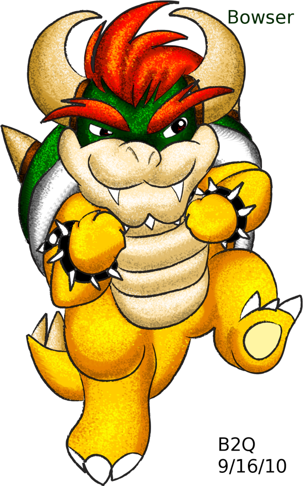 Tehe a chibi Bowser :33 by Bowser2Queen
