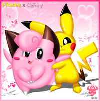 Pikachu x Clefairy by Bowser2Queen