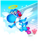 Giftart: Lightblue Yoshi
