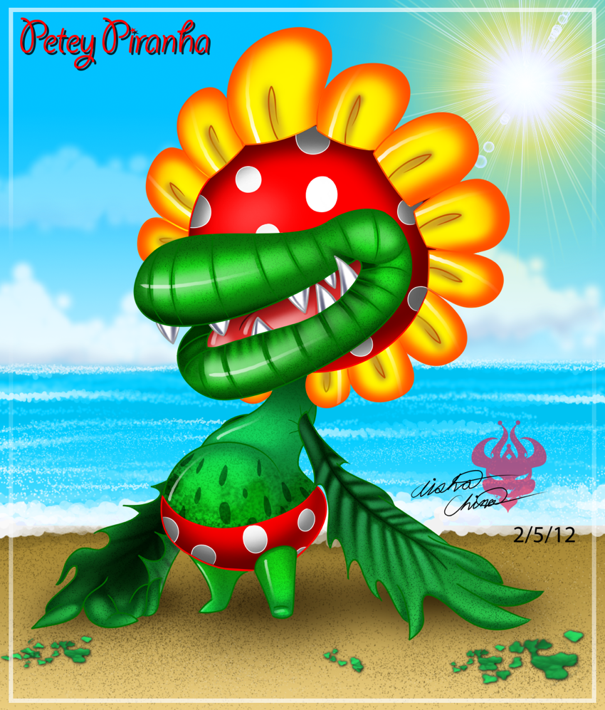 :.Petey Piranha.: By Bowser2Queen On DeviantArt