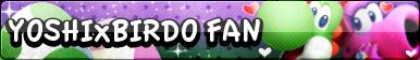 Yoshi x Birdo Fan button by Bowser2Queen