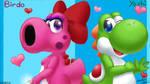 Yoshi and Birdo cute dino lovers