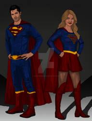 Supergirl Concept: Superman and Supergirl