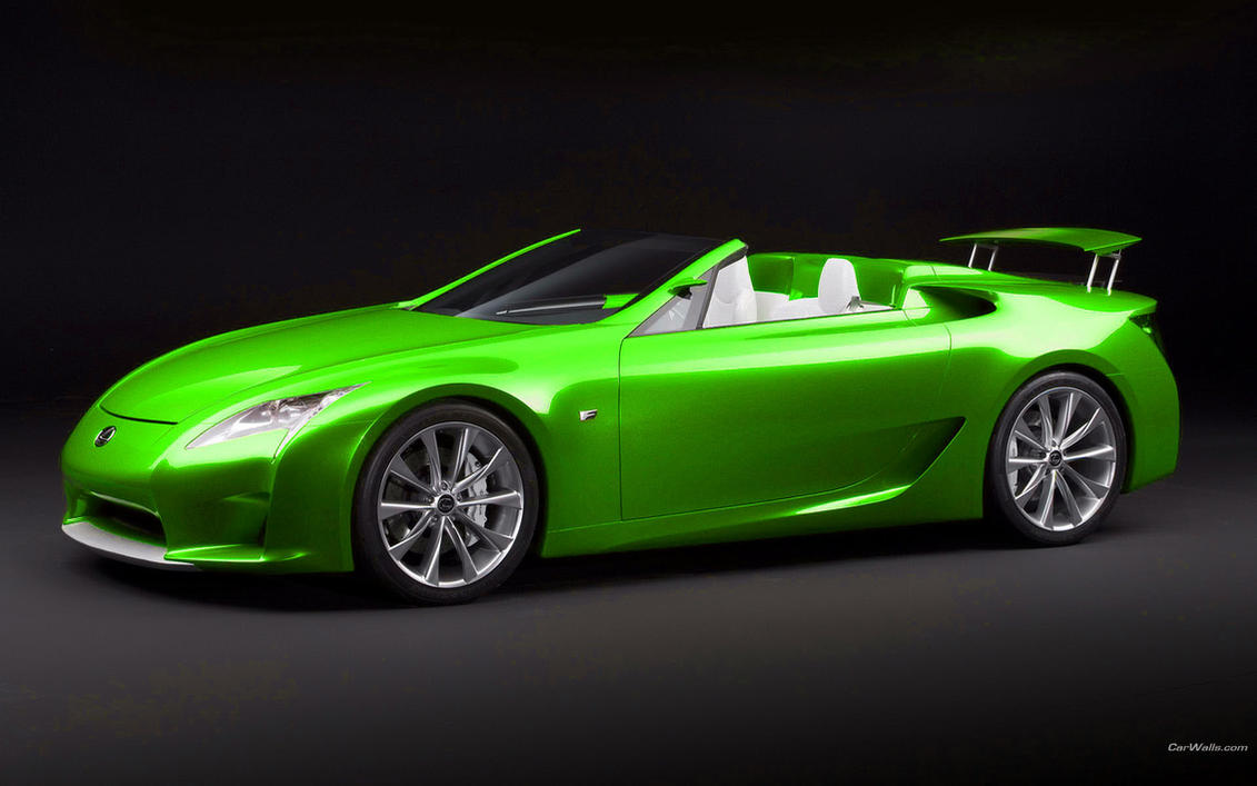 green sports car wallpaper - photo #2
