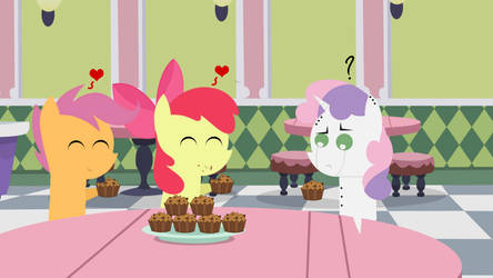 Three Fillies in a cafe. by RubyCast