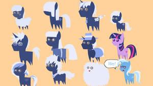 (Some of) Estories crew as Umbra ponies