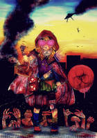 Zombie Apocalypse : LITTLE RED RIDING HOOD by TianaSama