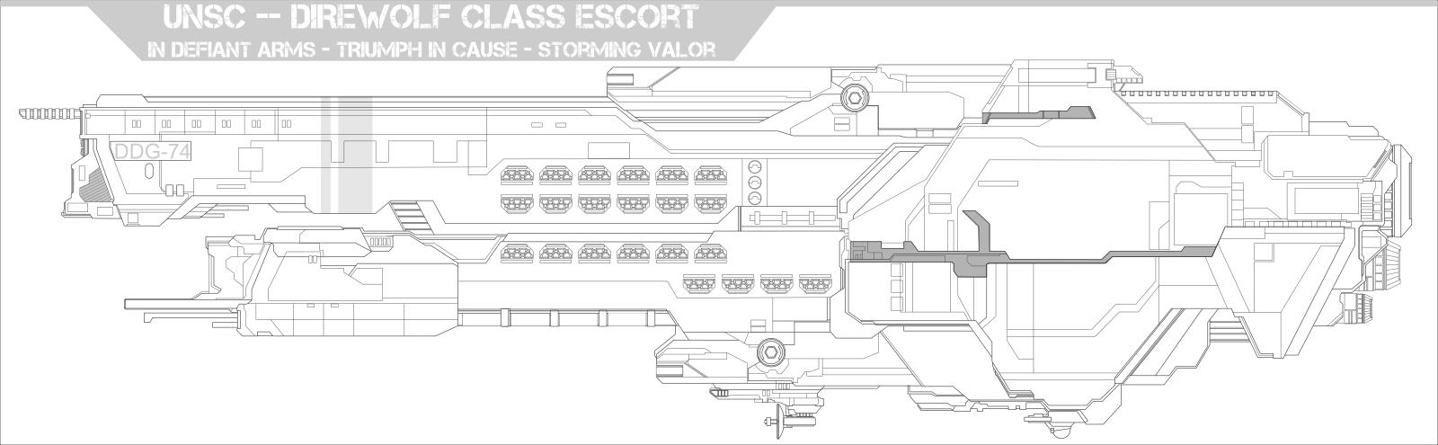 UNSC Direwolf Class Escort by Jon-Michael-May