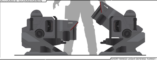 Short Range Laser Defense Turret by Jon-Michael-May
