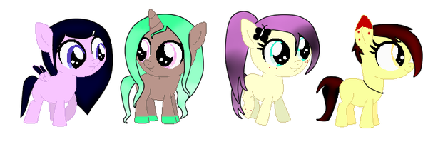 Pony Adopts for Art/YCH/Trade! OPEN by MonsterBonnie