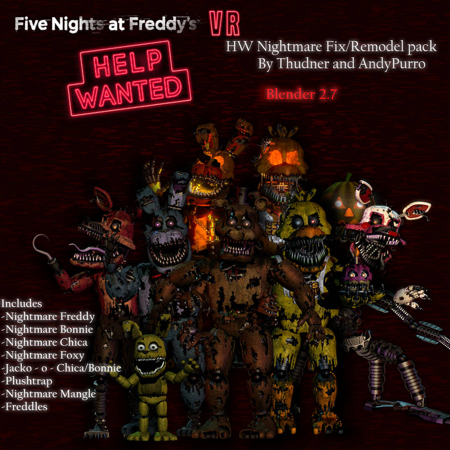 HW Nightmare Fix/Remodels Release [SFM - Blender]