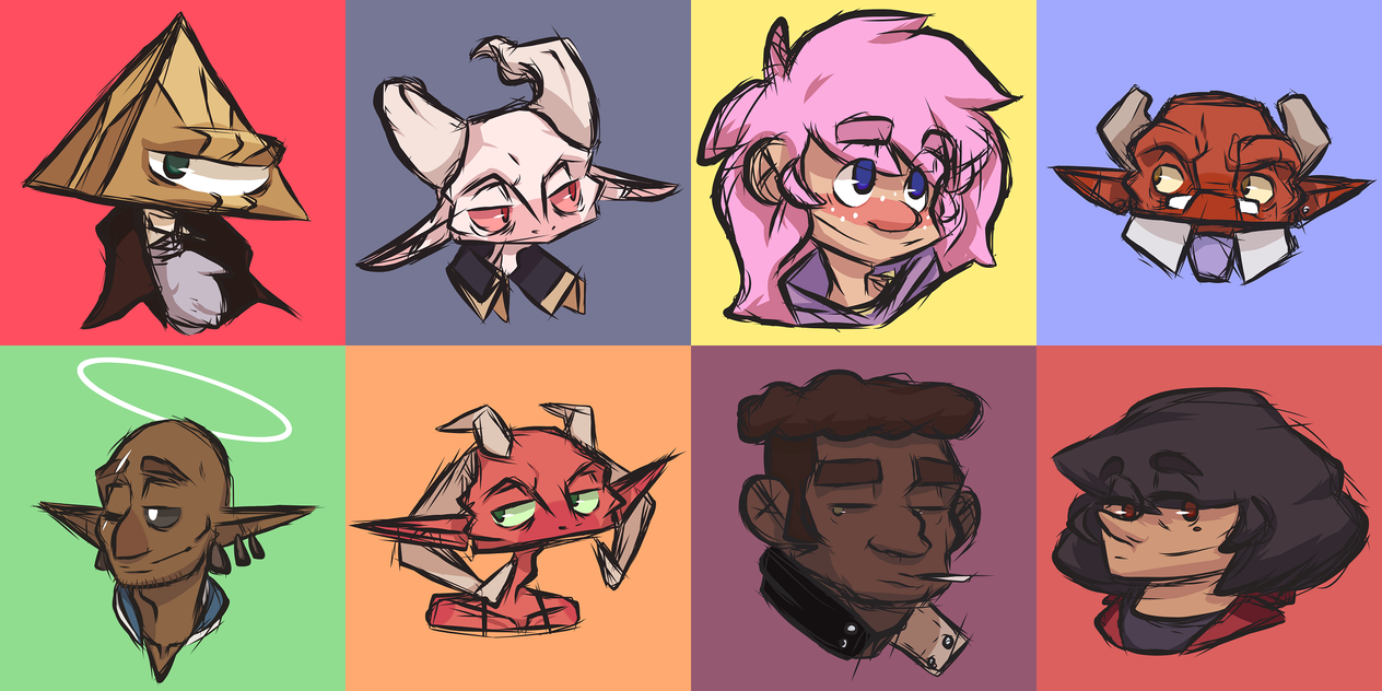 beautiful faces by squishypon