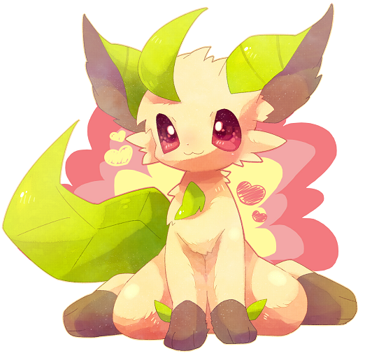 Leafeon Pokemon kawaii by BiyomonCuty