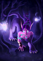Night Elf Druidess by Silartworks