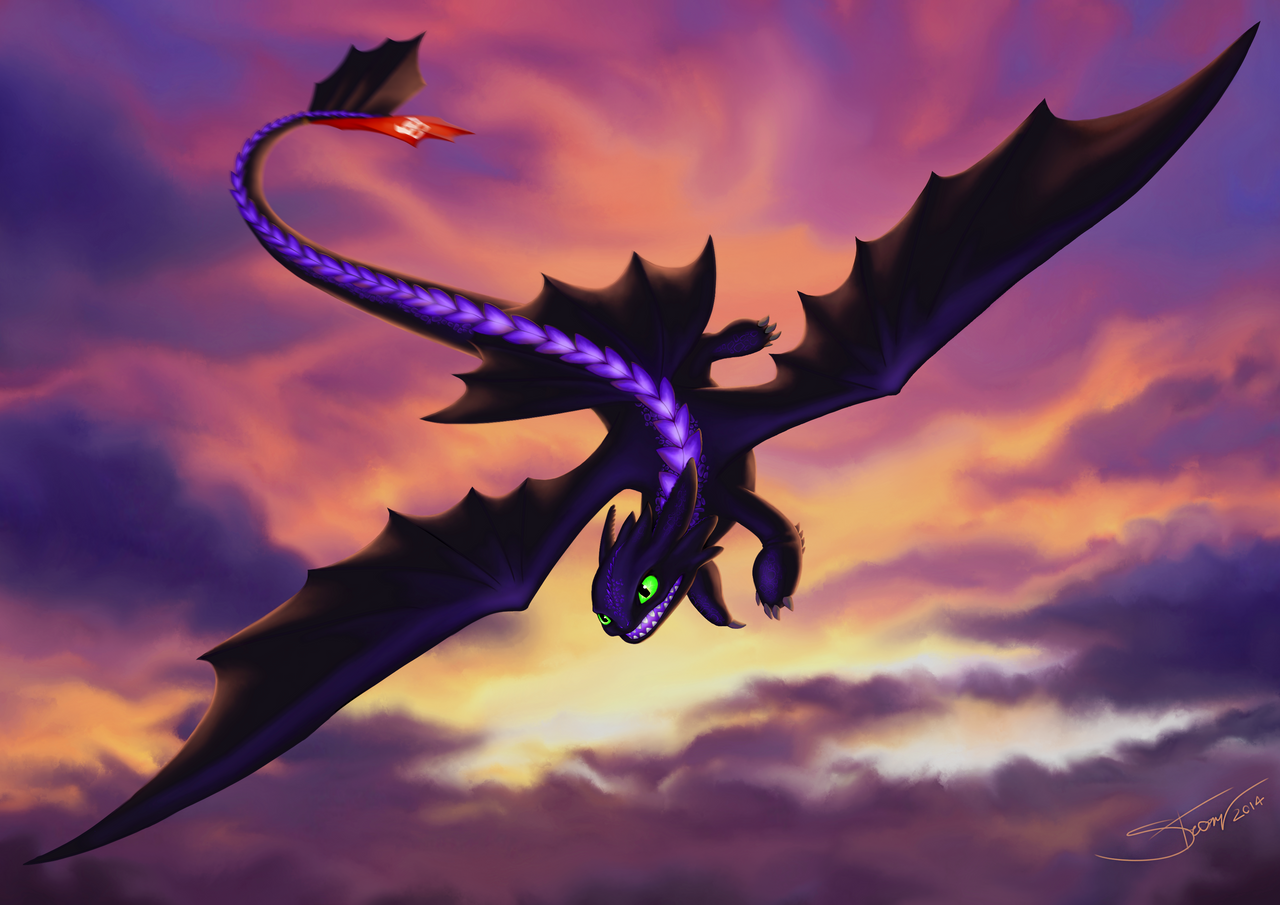 Toothless / Night Fury by Silartworks on DeviantArt