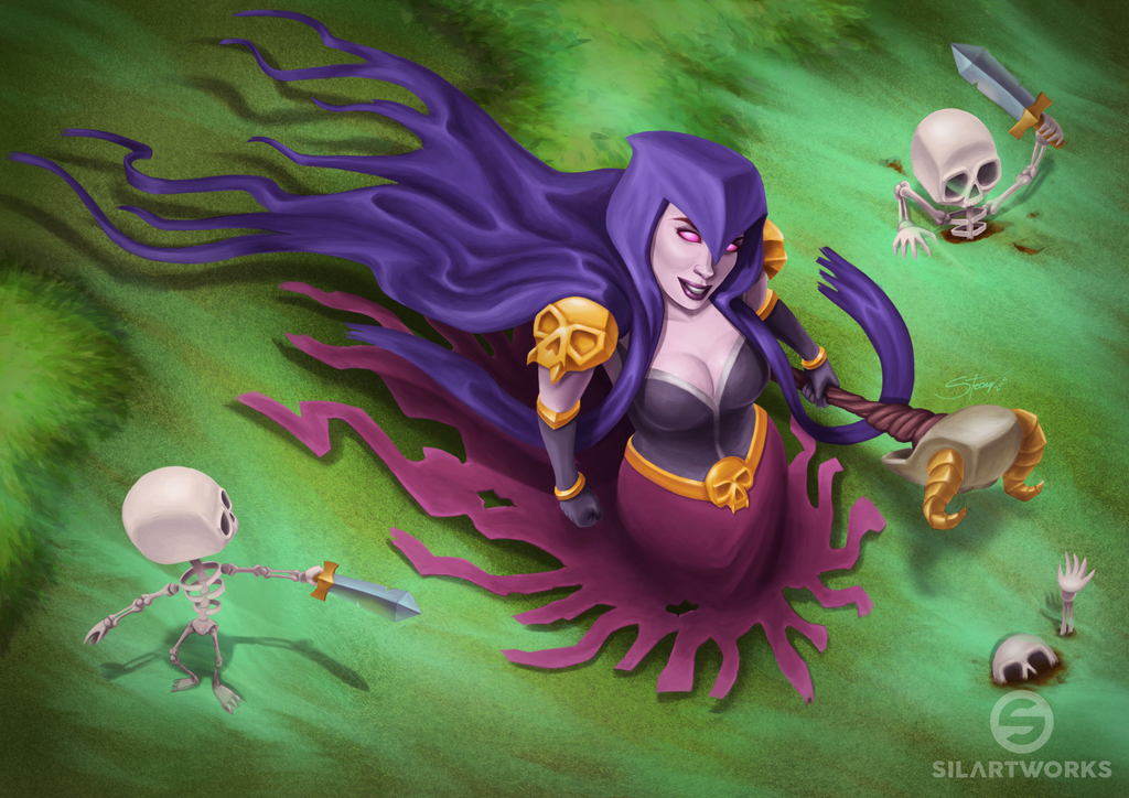 Witch from Clash of Clans by Silartworks on DeviantArt