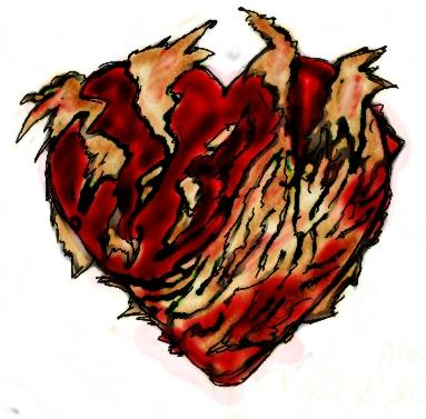 Broken heart tattoo, inspired by Sweeney Todd Broken Heart Tattoo