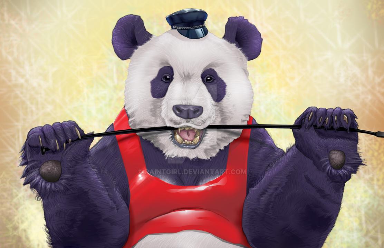 Bondage Panda by paintgirl