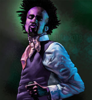 Fantastic Negrito painting by paintgirl