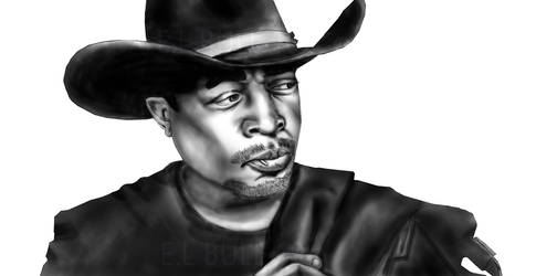 Chuck D as The Cowboy by paintgirl
