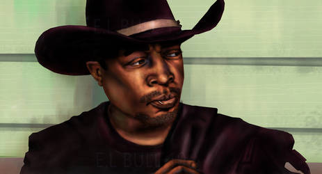 Chuck D as The Cowboy painting by paintgirl