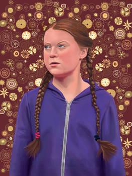 Portrait of Greta Thunberg