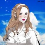 Natsuki's portrait by KureKumo